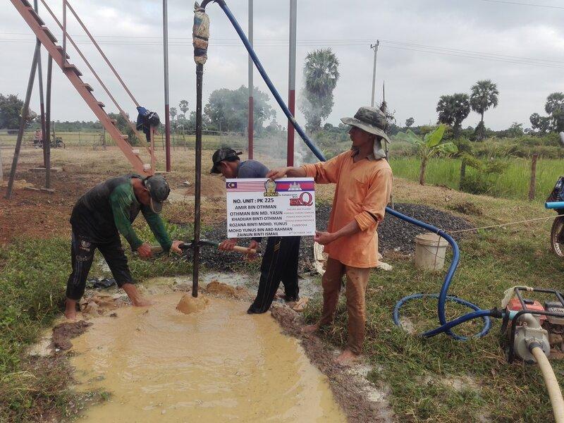 20 Unit Perigi Wakaf Siap Dibina di Kemboja